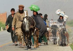 N. Waziristan-People fleeing the state terrorism4