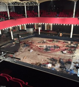 Scene of concert hall after the attack